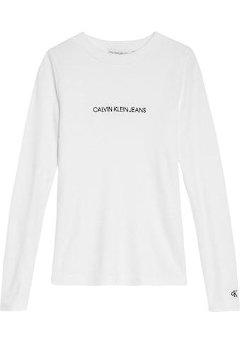 Calvin Klein Jeans Langarmshirt »LOGO RIB« kaufen