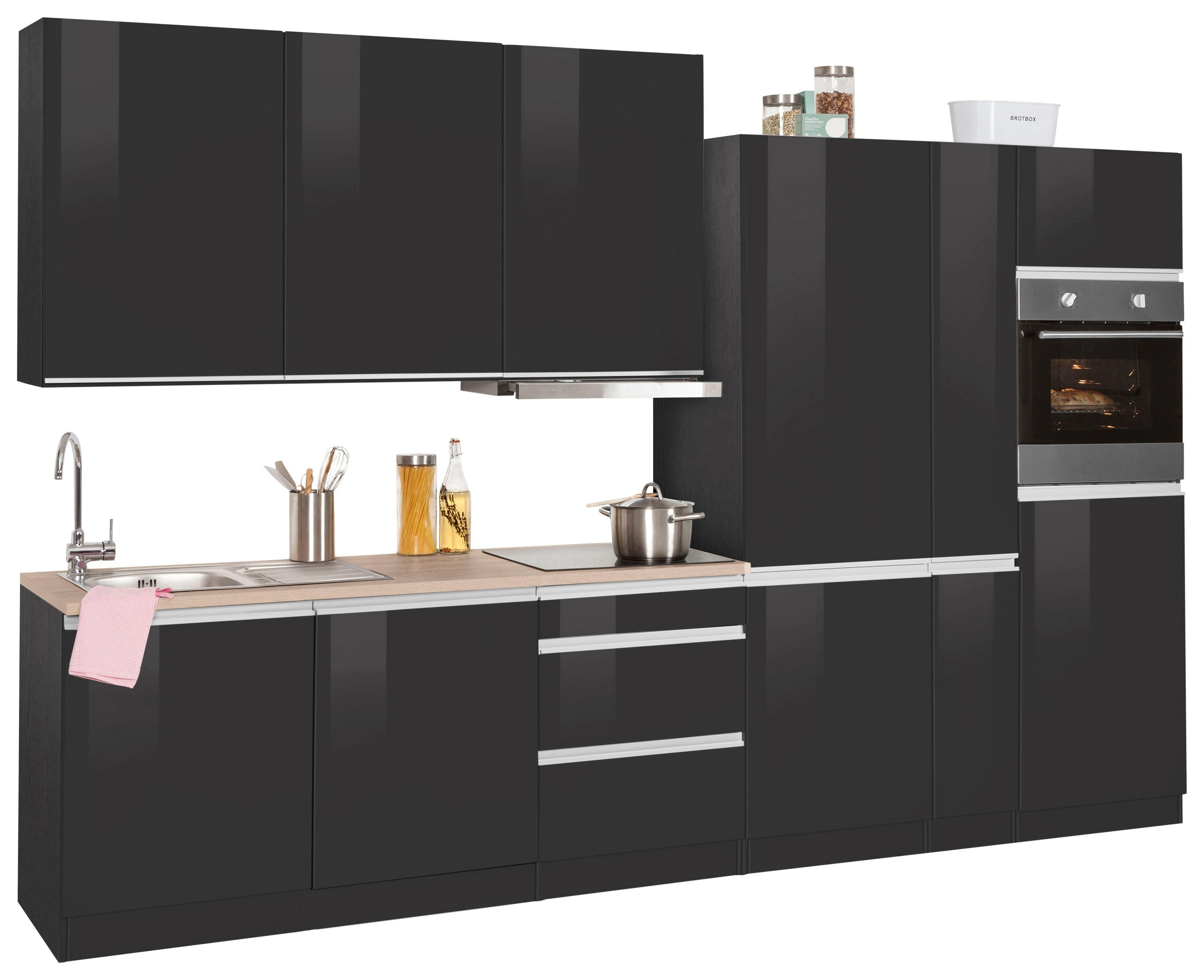 HELD MÖBEL Küchenzeile mit E-Geräten Ohio Breite 330 cm Preisvergleich