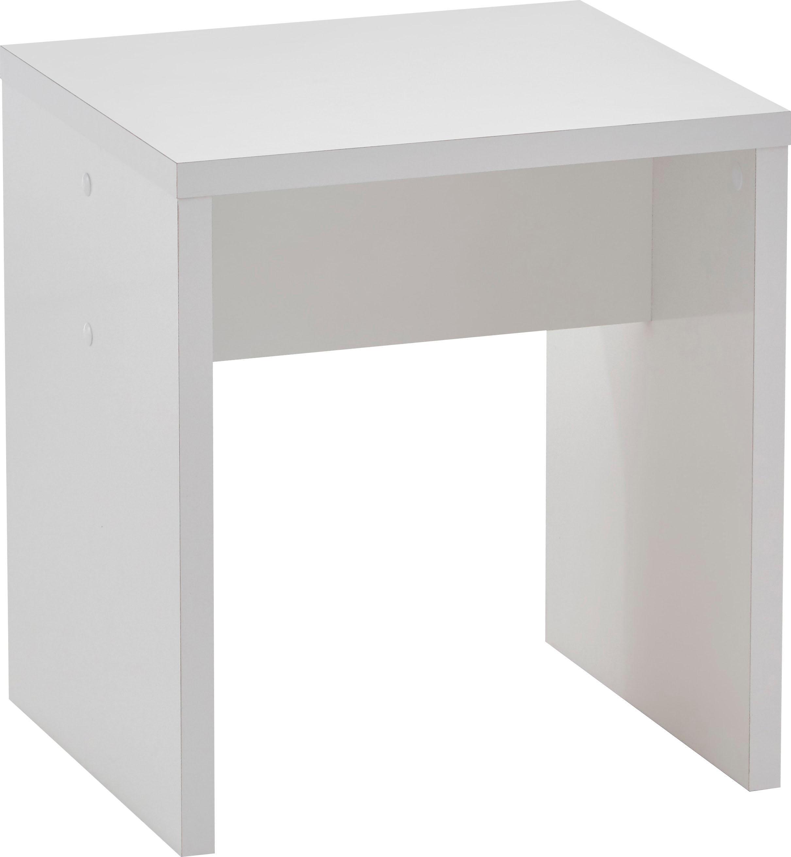 FMD Hocker Schminki weiß Sitzhocker
