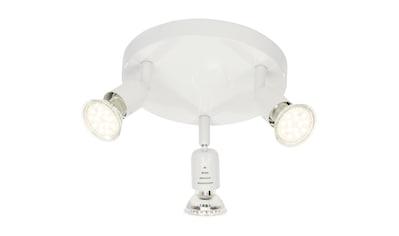 Brilliant Leuchten Loona LED Spotrondell 3flg weiß kaufen