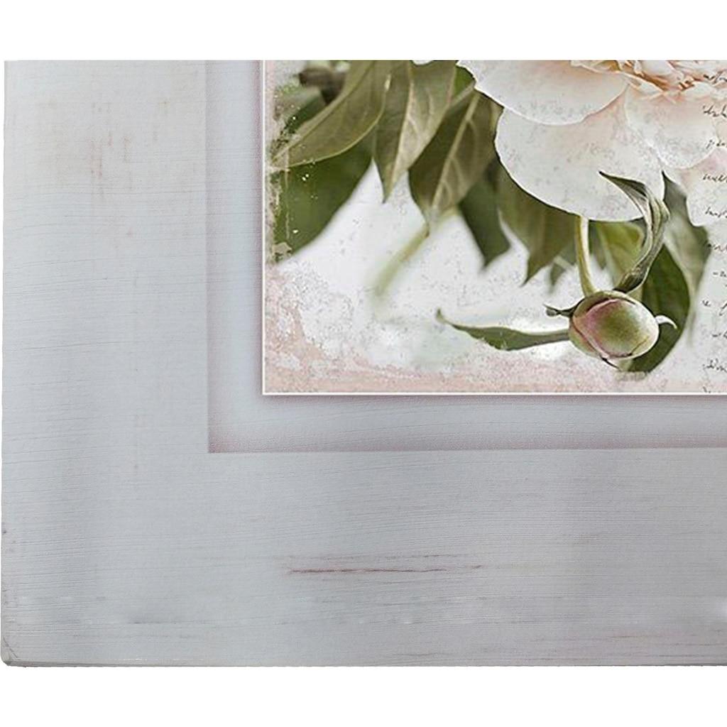 Home affaire Holzbild »Rosa Blume«, 40/40 cm