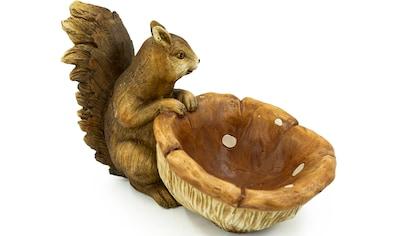 NOOR LIVING Gartenfigur »Eichhörnchen mit Pilzschale«, (1 St.) kaufen