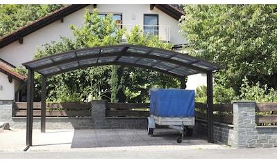 Ximax Doppelcarport »Portoforte Typ 60 M-mattbraun«, Aluminium, 526 cm, braun, Aluminium kaufen