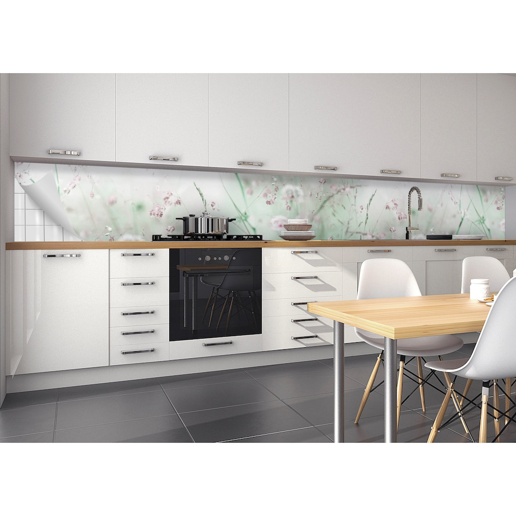 MySpotti Küchenrückwand »fixy Wildblumen«, selbstklebende und flexible Küchenrückwand-Folie