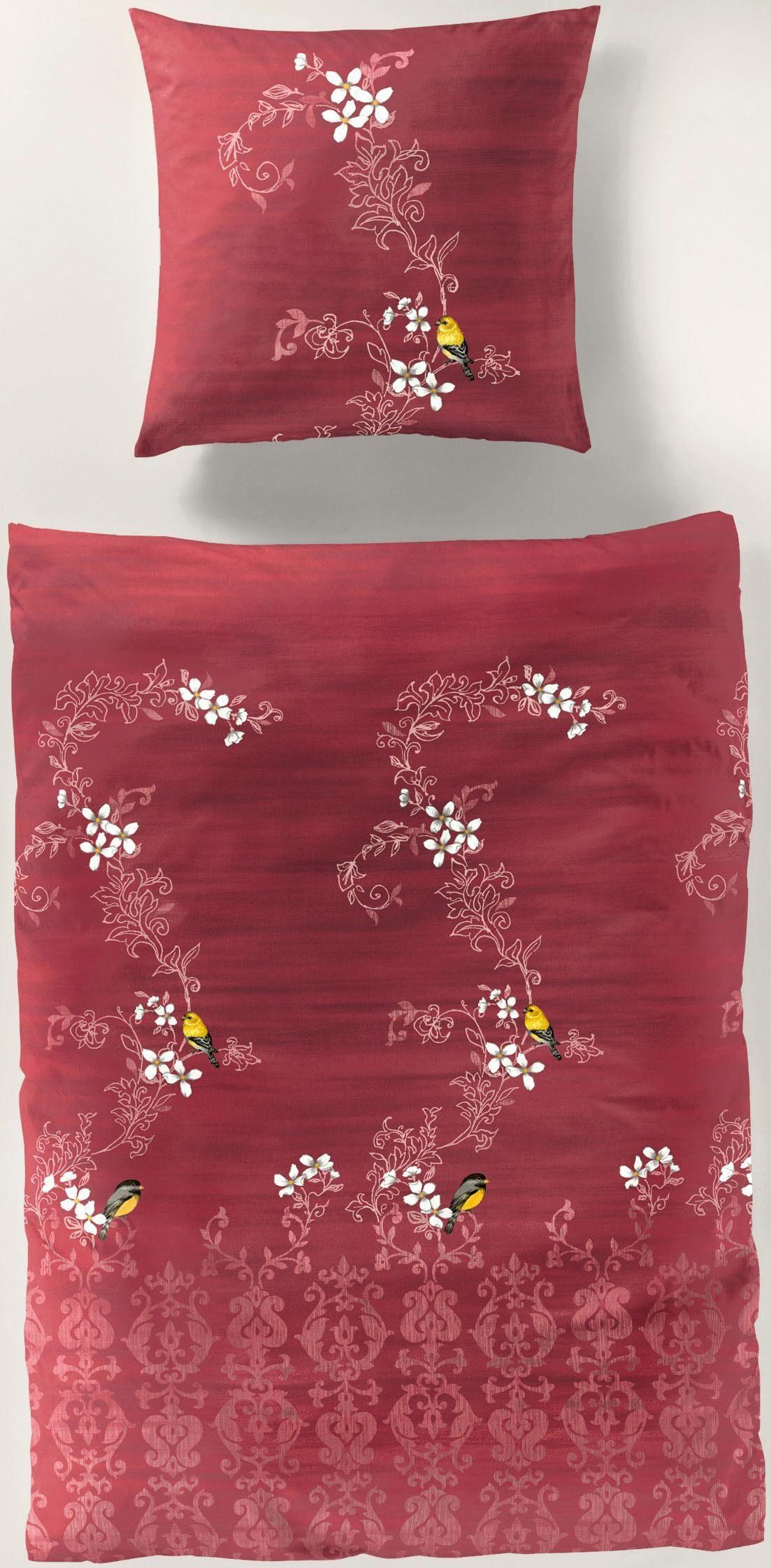 Bettwäsche red flower BIERBAUM