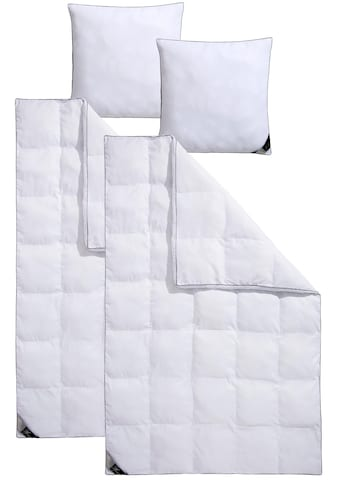 Hanse by RIBECO Kunstfaserbettdecke + Kopfkissen »Max«, (Spar-Set), Unschlagbares Preisleistungsverhältnis! kaufen