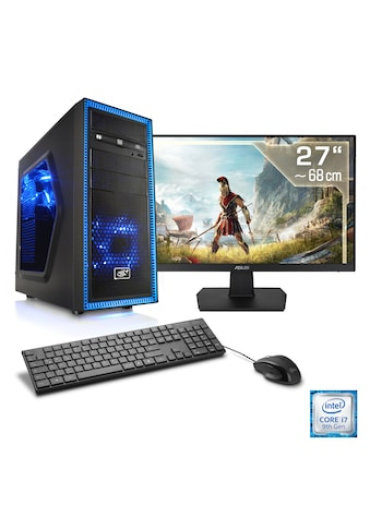 "CSL Gaming PC Set i7 - 9700F | GTX 1650 | 16GB DDR4 | SSD | 27"" TFT »Speed T7181 Windows 10« kaufen"