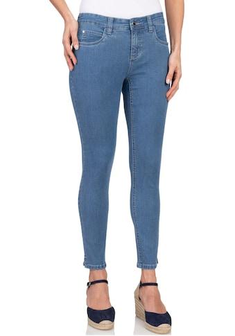 wonderjeans Ankle-Jeans »Ankle-Slit WA70«, Schmaler Schnitt mit Schlitz am Saum kaufen