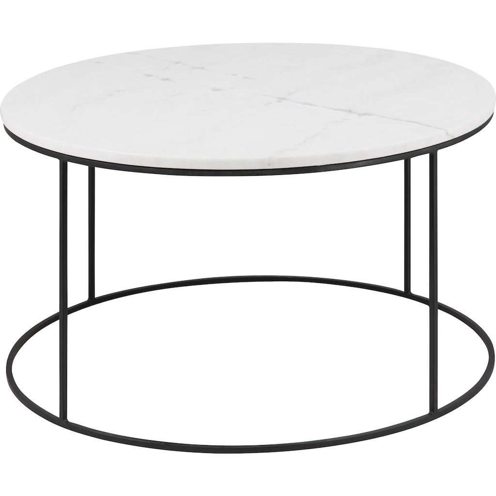 andas Couchtisch »Bryan«, mit Tischplatte aus weißem Mamor und Gestell aus Metall