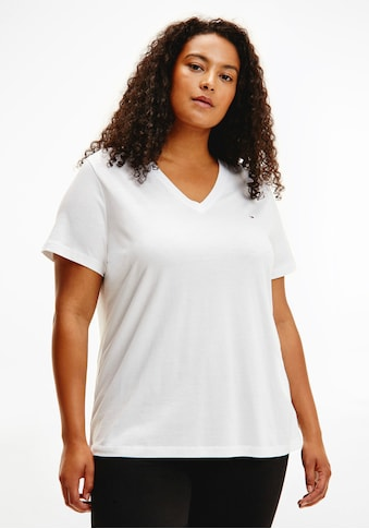Tommy Hilfiger Curve V-Shirt »CRV NEW V-NECK TEE«, mit Tommy Hilfiger Logo-Flag kaufen
