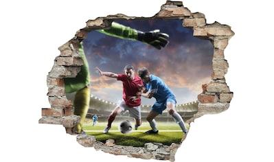 queence Wandtattoo »Fußball Zweikampf« kaufen