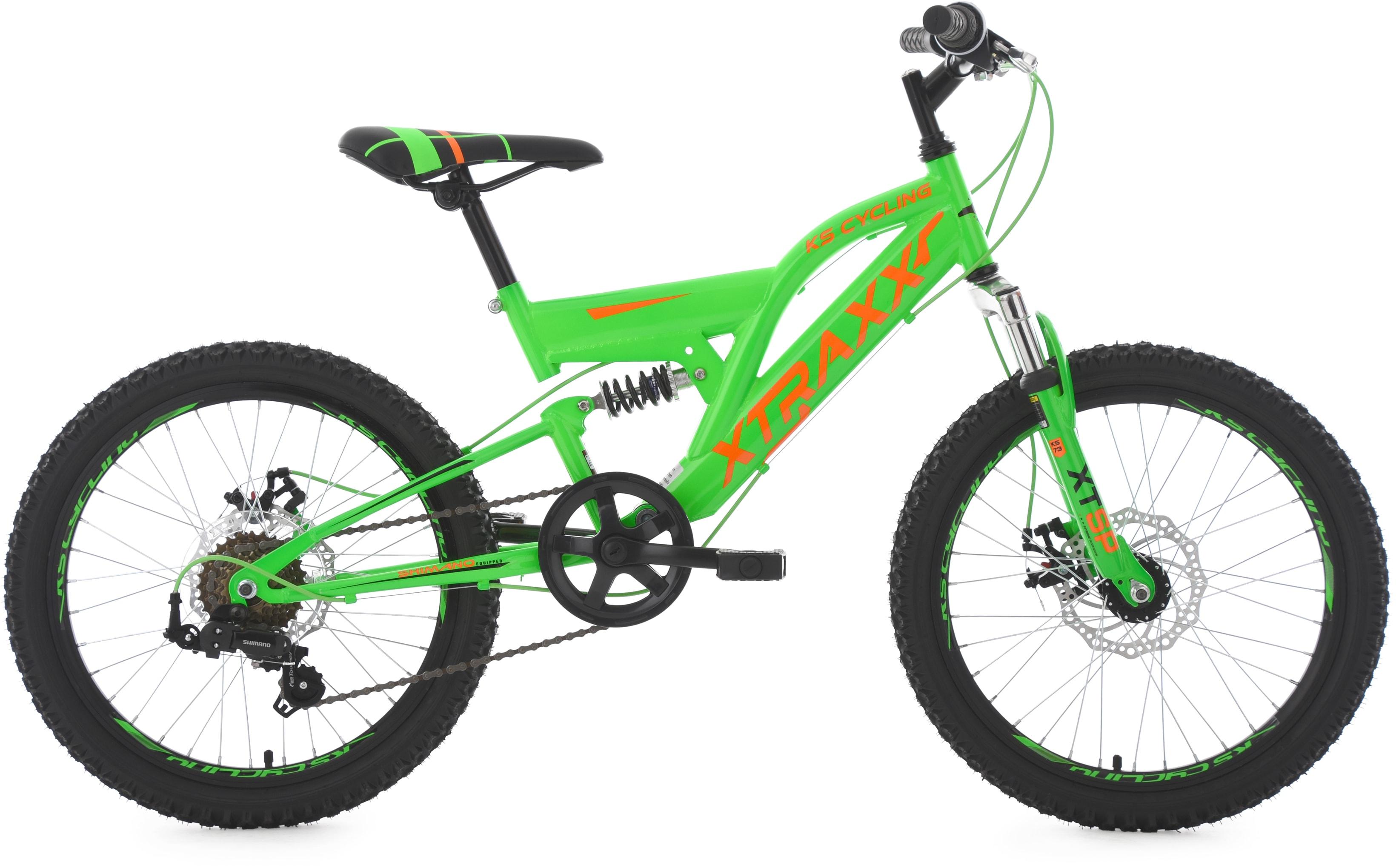 KS Cycling Jugendfahrrad XTRAXX, 7 Gang, Shimano, Tourney Schaltwerk, Kettenschaltung grün Kinder Kinderfahrräder Fahrräder Zubehör