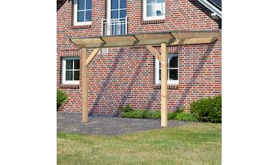 KARIBU Terrassendach »Premium Gr. C«, Breite 714 cm, verschiedene Größen, geschwungene Kopfbänder kaufen