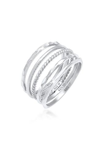 Elli Ring-Set »Stapelring Stacking Boho Set (5 tlg.) Silber« kaufen