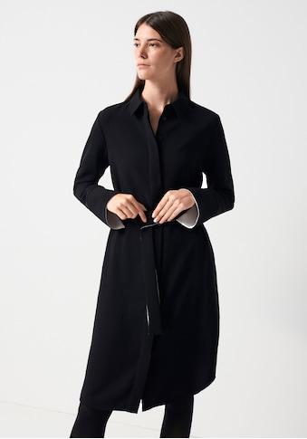 someday Hemdblusenkleid »Queorina«, (mit Bindegürtel), mit Kontrast-Details kaufen