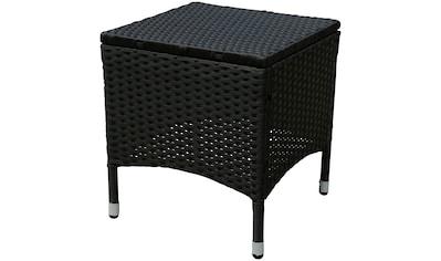 indoba Hocker »Valencia«, Polyrattan - schwarz - IND-70075-HO kaufen