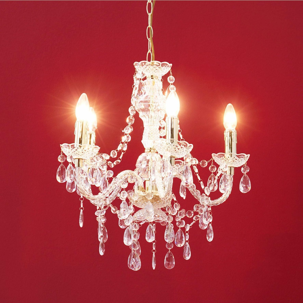 TRIO Leuchten Kronleuchter »LÜSTER«, E14, Brennstellen in Flammenoptik