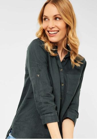 Cecil Klassische Bluse, aus Leinen mit Krempelärmeln kaufen
