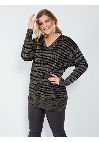 Sara Lindholm by Happy Size Longpullover mit Glanzgarn kaufen