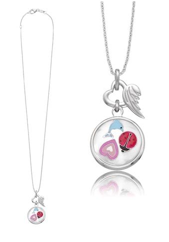 Herzengel Kette mit Anhänger »Herz, Delfin, Marienkäfer als Symbol für Freundschaft, HEN - GLAS - FRIEND« kaufen