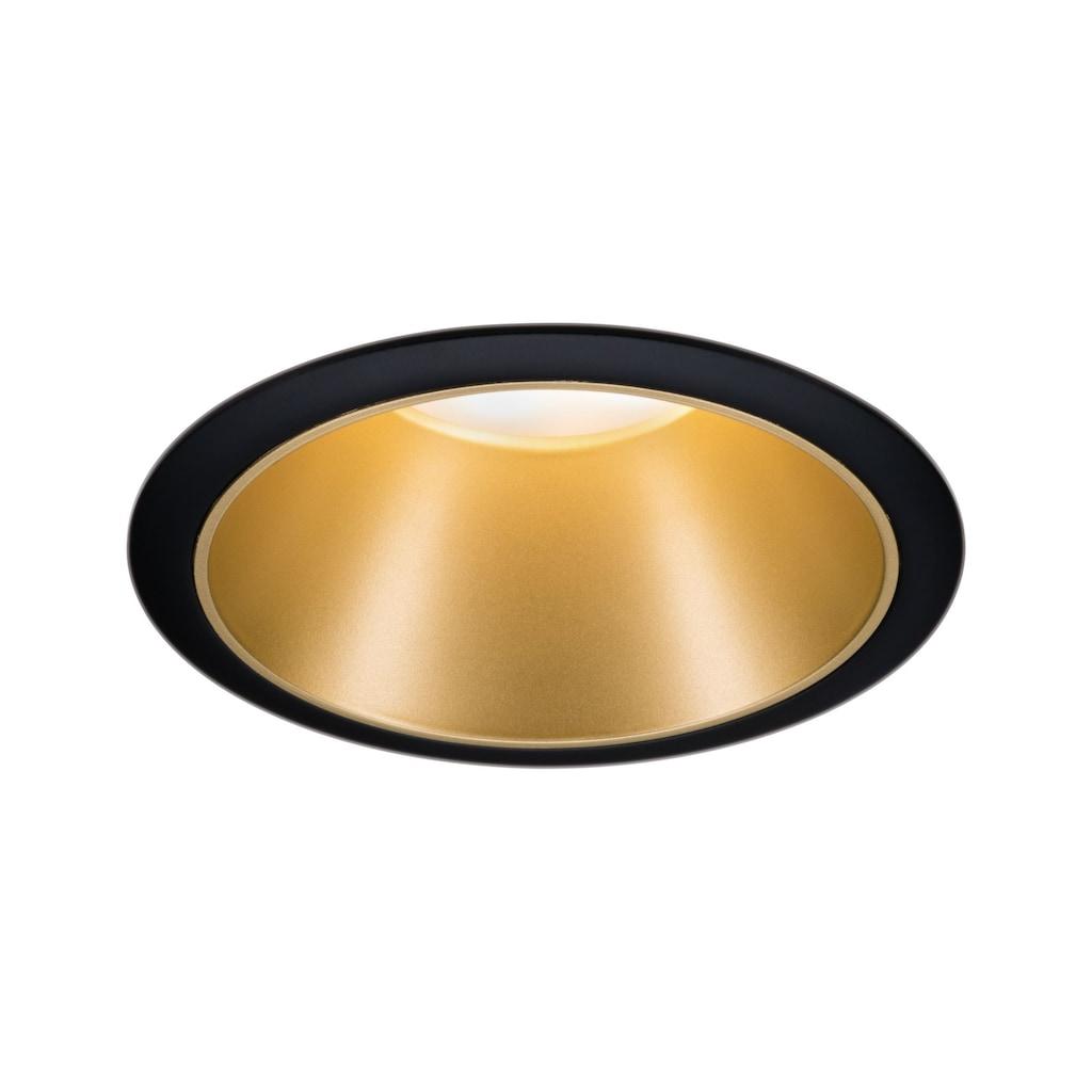 Paulmann LED Einbaustrahler »Cole 6,5W Schwarz/Gold matt 3-Stufen-dimmbar 2700K Warmweiß«, Warmweiß