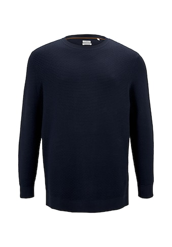 TOM TAILOR Men Plus Rundhalspullover »Strukturierter Pullover aus Baumwolle« kaufen
