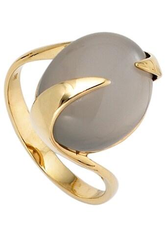 JOBO Goldring, 585 Gold mit Mondstein kaufen