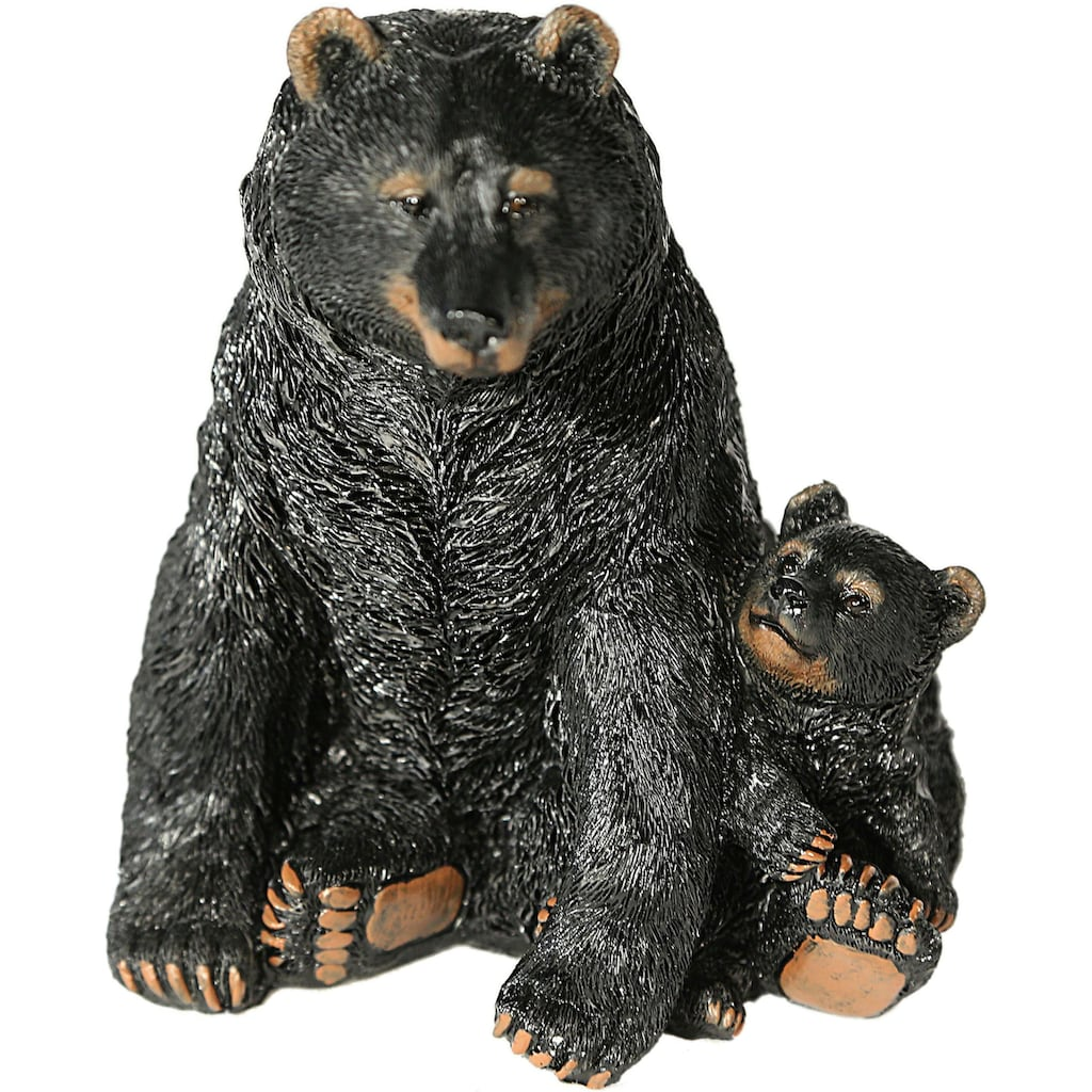 Casa Collection by Jänig Tierfigur »Schwarzbär mit Jungen«