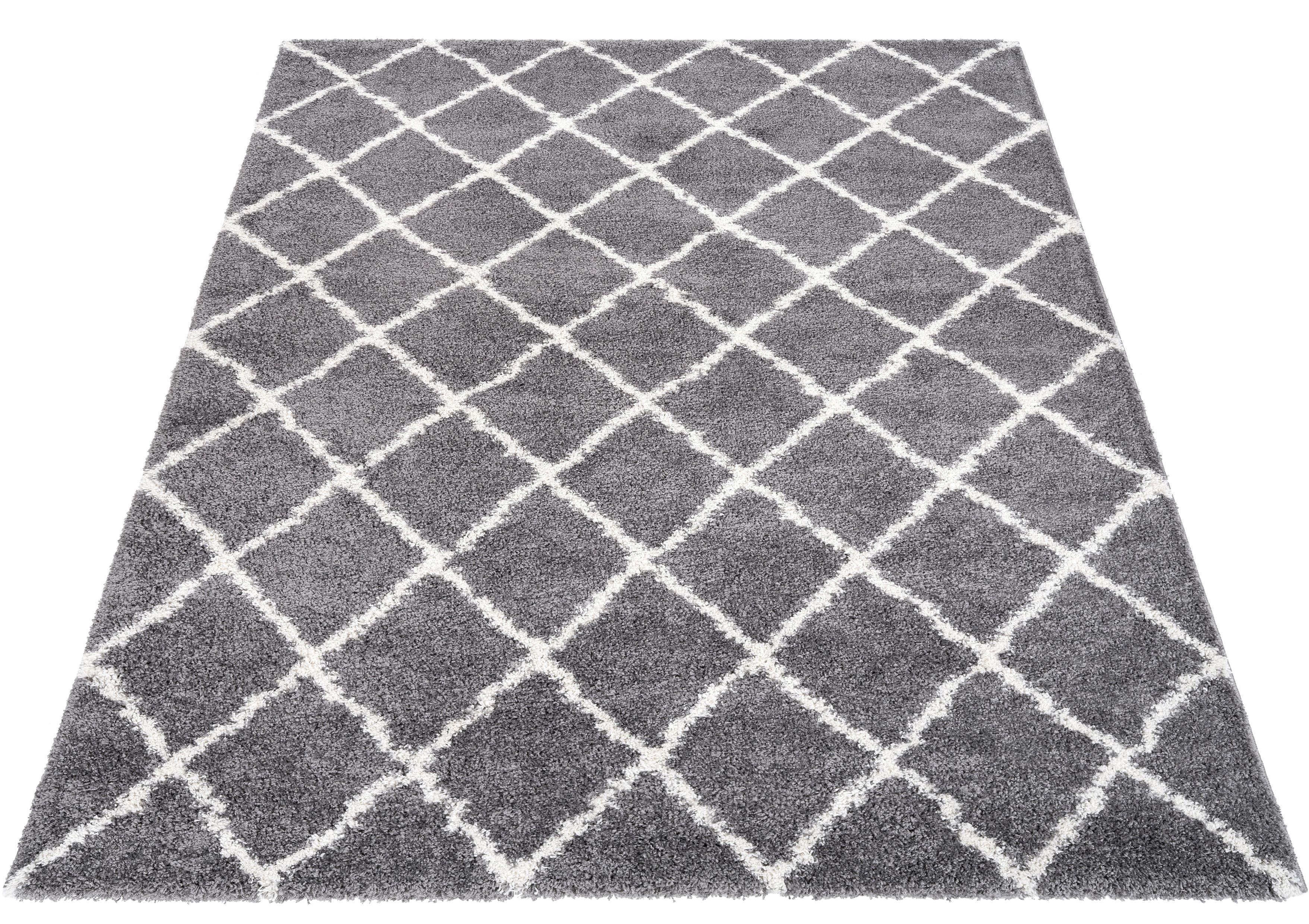 Hochflor-Teppich Carla andas rechteckig Höhe 32 mm maschinell gewebt