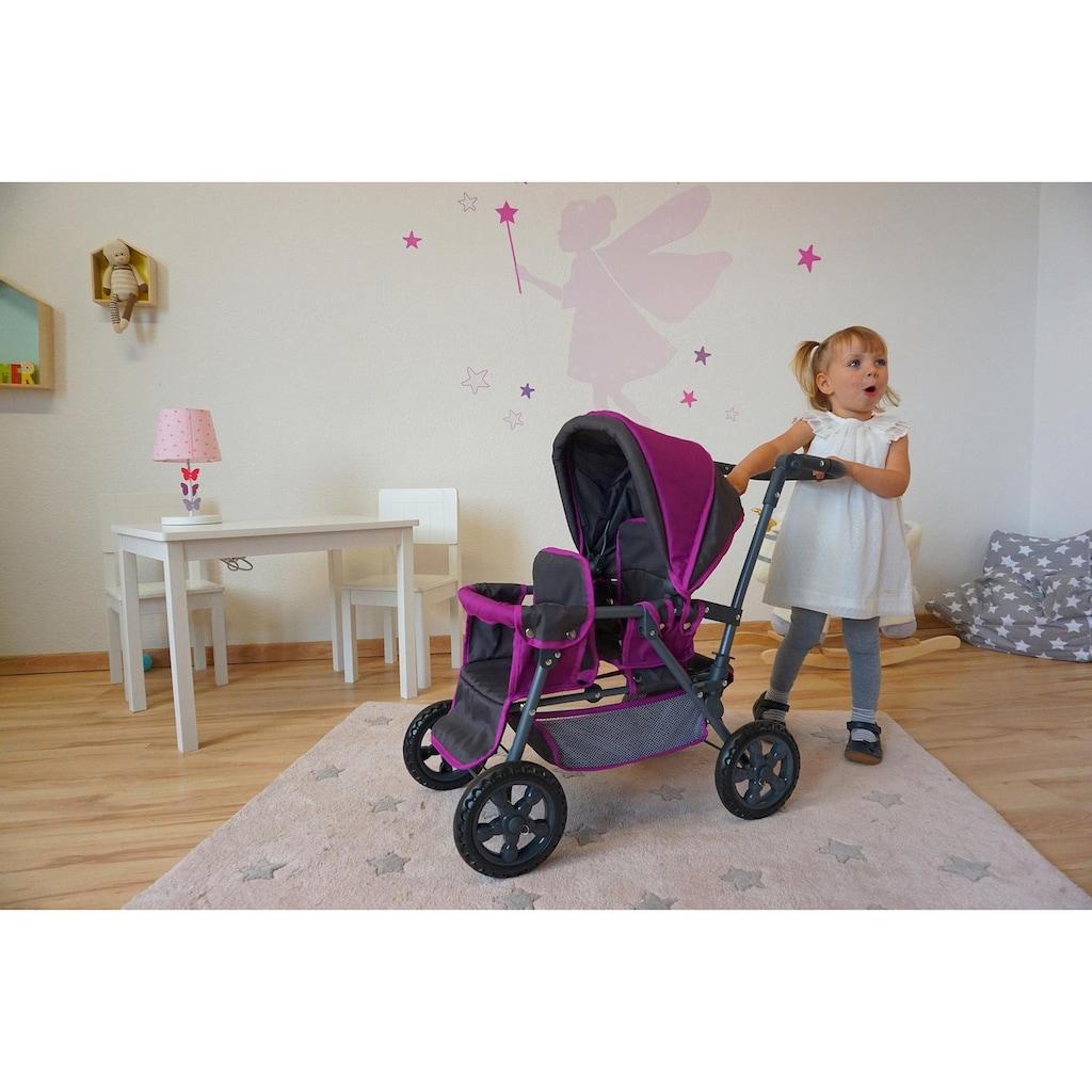Knorrtoys® Puppen-Zwillingsbuggy »BigTwin - tec purple«