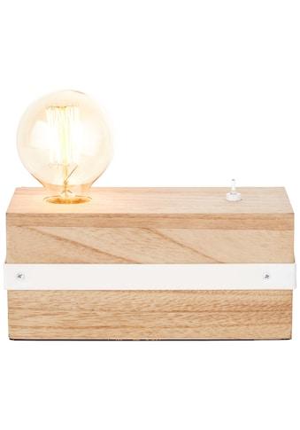 Brilliant Leuchten White Wood Tischleuchte beton/holz hellweiß kaufen