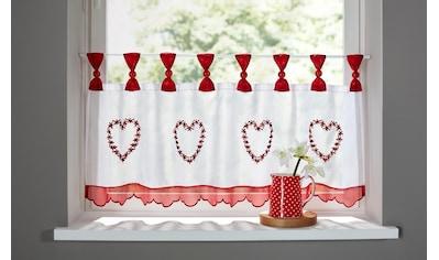 Scheibengardine, »Herz«, Home affaire, Schlaufen 1 Stück kaufen