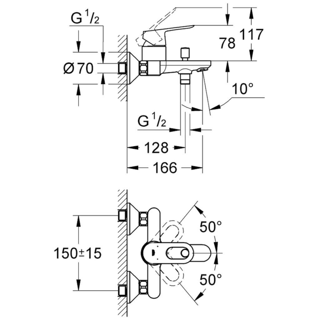 Grohe Wannenarmatur »Bauloop Einhand-Wannenbatterie«, DN 15