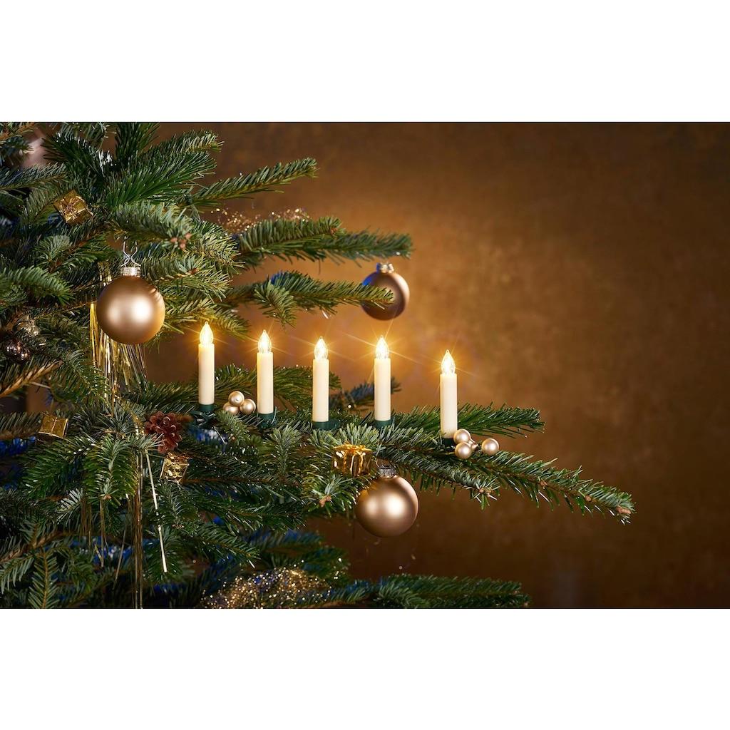 BONETTI LED-Christbaumkerzen, kabellos, 25 Kerzen inklusive Zubehör für Fenster- und Tischdekoration
