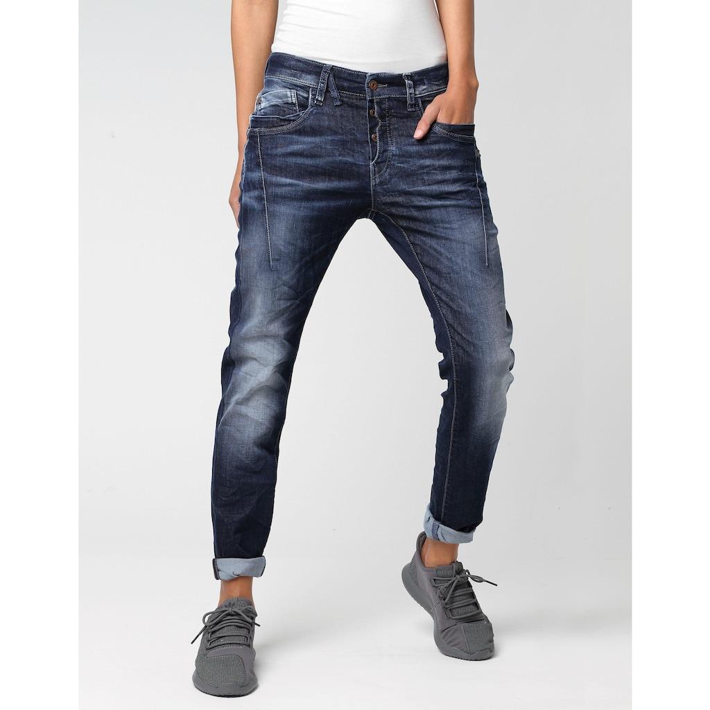 GANG Slim-fit-Jeans »New Georgina«, mit charakteristischen Abnähern quer über den Oberschenkel
