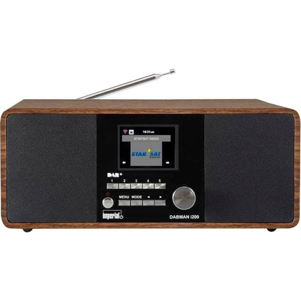 IMPERIAL Digitalradio (DAB+) »DABMAN i200«, (WLAN-LAN (Ethernet) Digitalradio (DAB+)-Internetradio-FM-Tuner-UKW mit RDS 20 W)