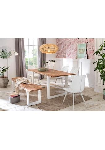 Premium collection by Home affaire Esstisch »Manhattan«, mit Baumkantenoptik und... kaufen