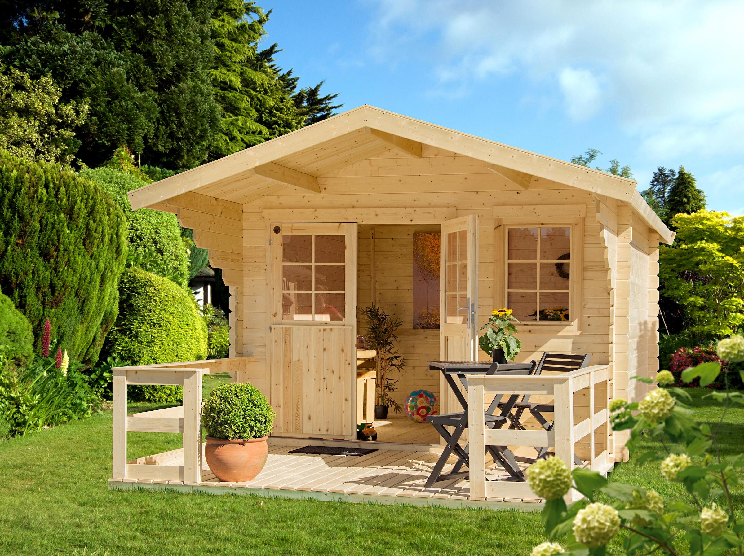Fußboden Terrasse ~ Gartenhaus g inkl fußboden terrasse und schleppdach mm