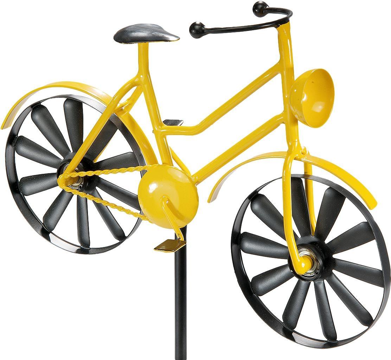 Home affaire Deko-Windrad Yellow Bike Wohnen/Möbel/Gartenmöbel & Gartendeko/Gartendekoration/Weitere Gartendekoration