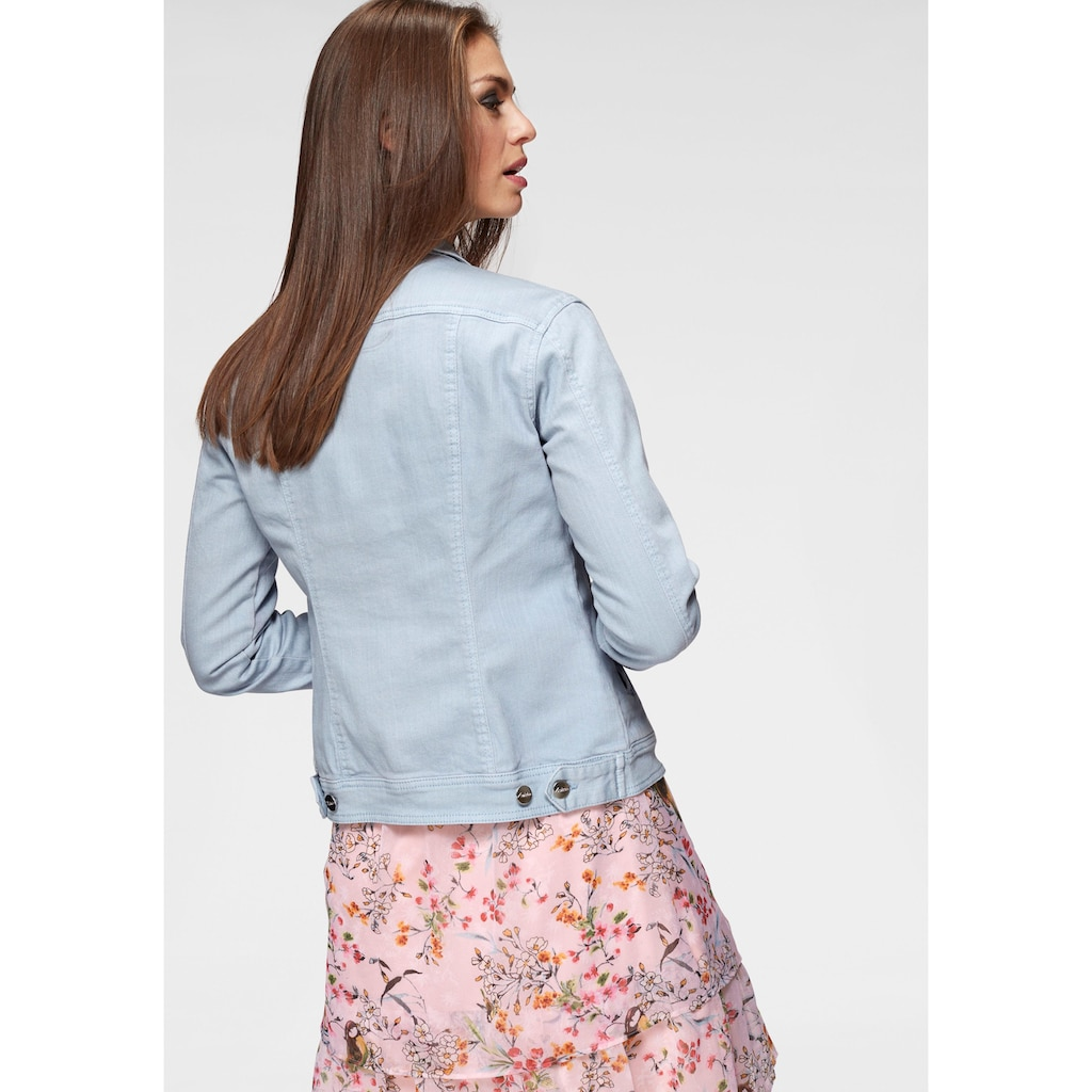 Aniston CASUAL Jeansjacke, in zartem Pastell