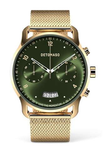 DETOMASO Chronograph »SORPASSO QUARZUHR GOLD GREEN MILANESE« kaufen