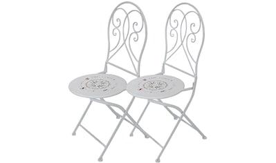 Garden Pleasure Gartenstuhl »Bayo«, 2er Set, Stahl/Textil, stapelbar kaufen