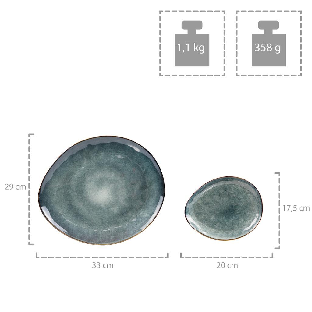 SÄNGER Kombiservice »Darwin«, (11 tlg., Servierplatten Darwin aus Porzellan 11 teilig)