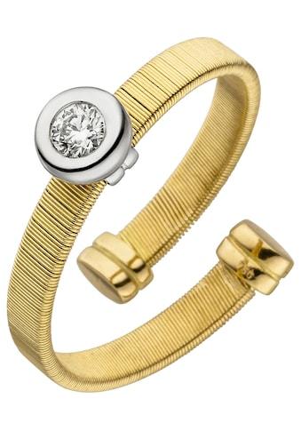 JOBO Fingerring, offen 750 Gold bicolor mit Diamant kaufen