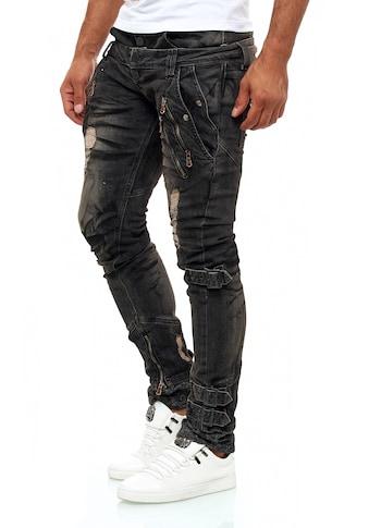 KINGZ Slim-fit-Jeans, mit tollen Akzenten kaufen