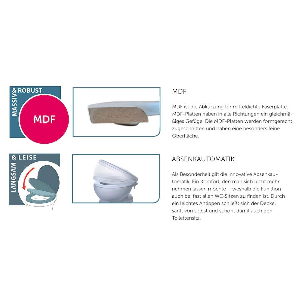 Schütte WC-Sitz »Solid Wood«, mit Absenkautomatik