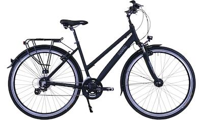 HAWK Bikes Trekkingrad »HAWK Trekking Lady Premium Black«, 24 Gang Shimano Altus Schaltwerk kaufen