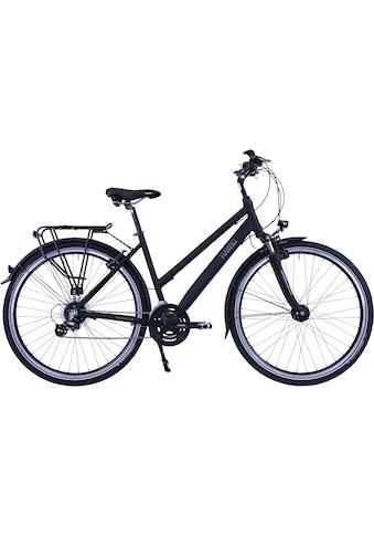 HAWK Bikes Trekkingrad »HAWK Trekking Lady Premium Black«, 24 Gang, Shimano, Altus... kaufen