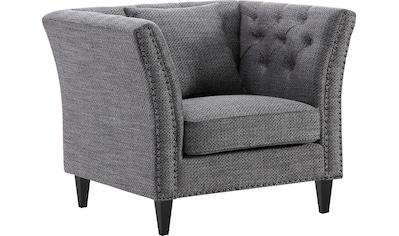 ATLANTIC home collection Sessel, Chesterfield Armlehnensessel, extra weich und kuschelig, Füllung mit Federn kaufen