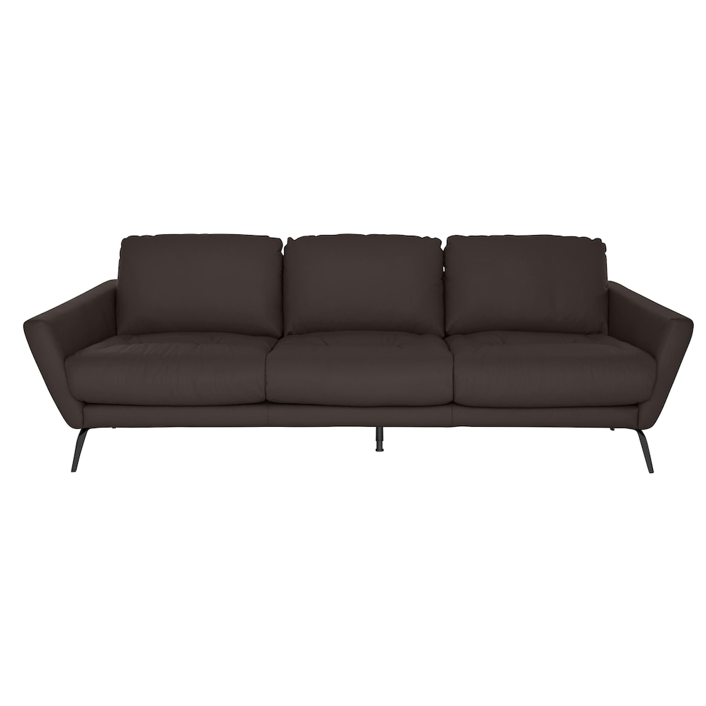 W.SCHILLIG Big-Sofa »softy«, mit dekorativer Heftung im Sitz, Füße schwarz pulverbeschichtet